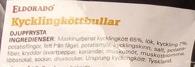 Eldorado Kycklingköttbullar - Ingredients