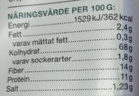 Ekologisk Knäckebröd Fullkornsråg & Quinoa - Informations nutritionnelles - sv