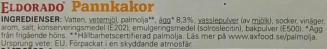 Eldorado Pannkakor - Ingrédients - sv