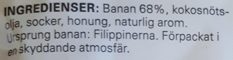 Bananchips - Ingrédients - sv