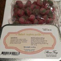 Ruhbarb raspberry pastilles - Producto - es