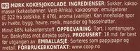 Mørk Kokesjokolade - Ingredients - nb