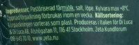 Färskriven pecorino - Ingredients