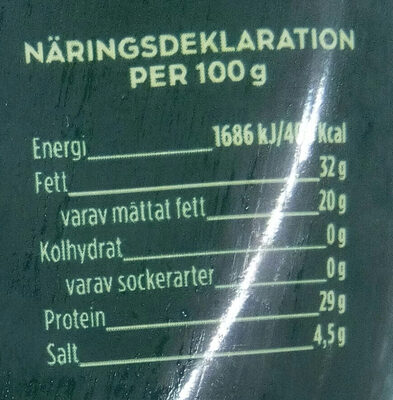 Färskriven pecorino - Nutrition facts