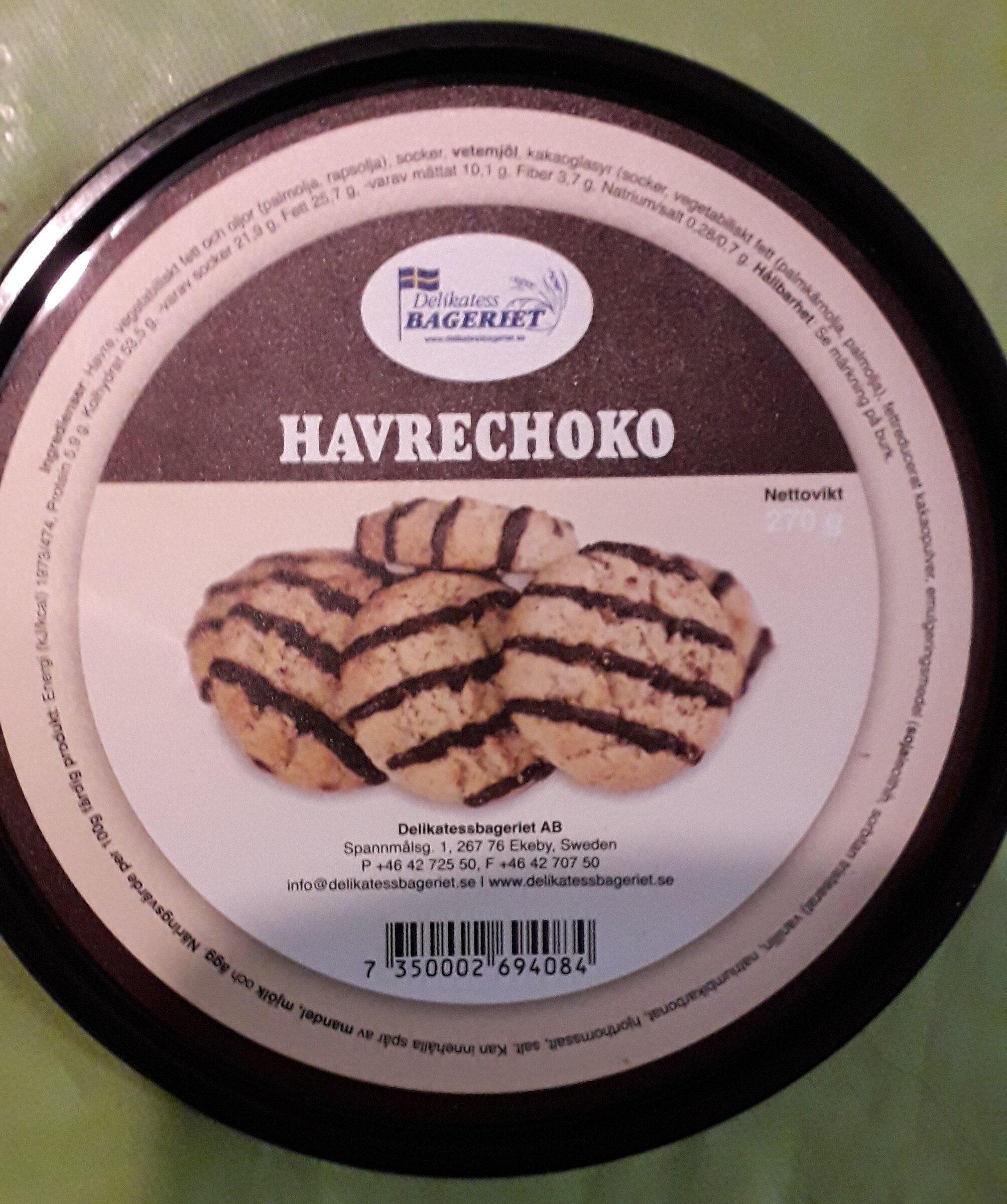 Havrechoko - Ingredients - sv