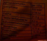 Naturesnax Nöt & Snacksmix - Informations nutritionnelles