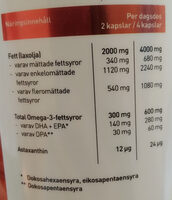 Extra Virgin Norwegian Salmon Oil - Voedingswaarden - sv