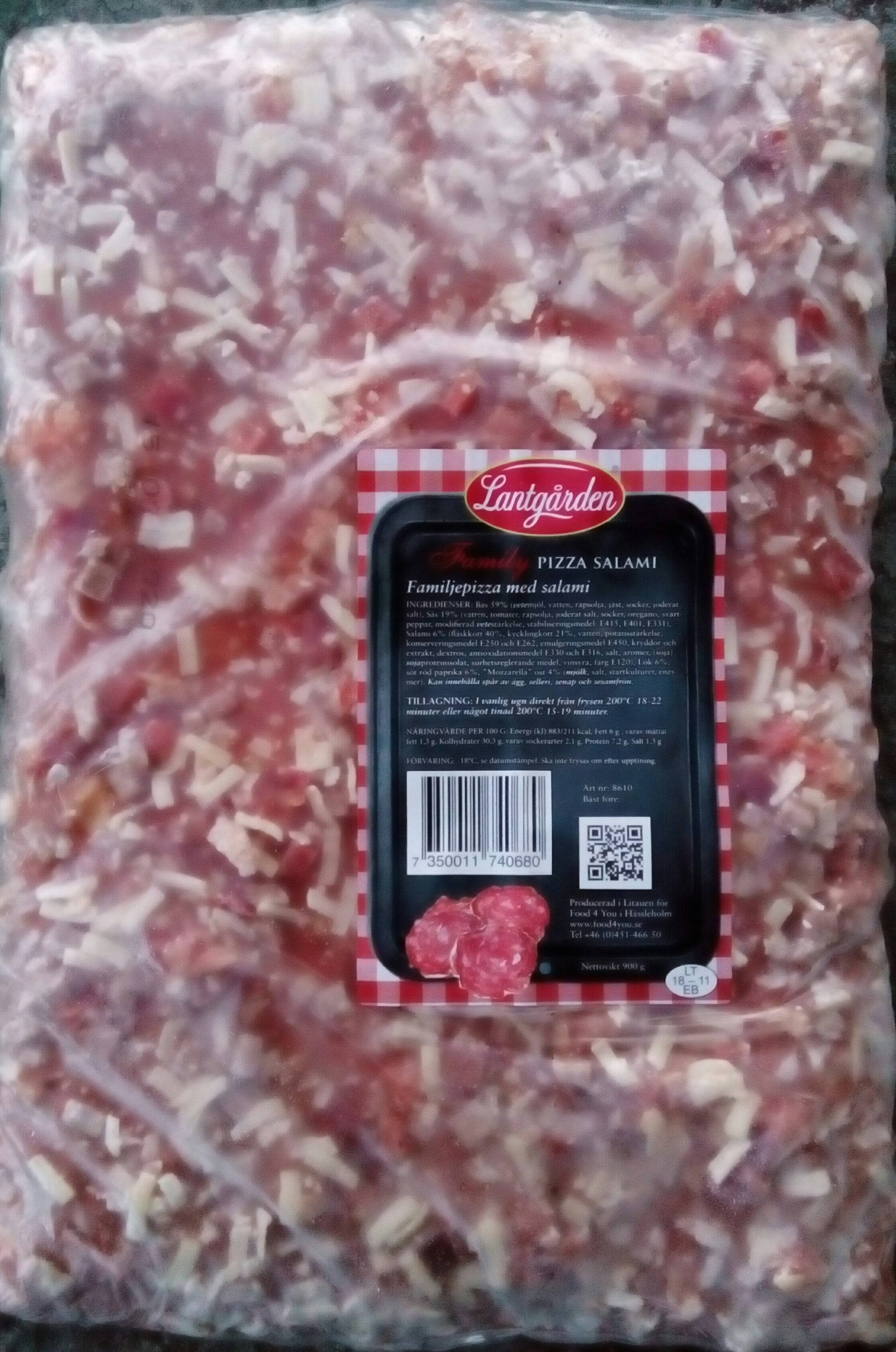 Lantgården Family Pizza Salami - Produit