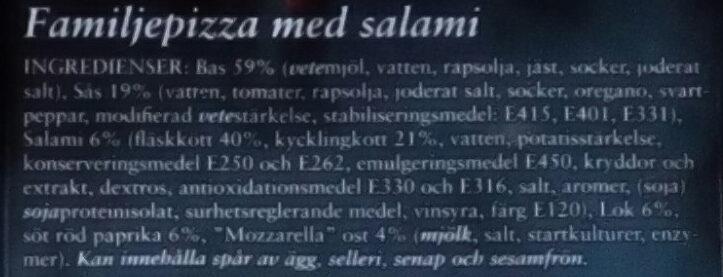 Lantgården Family Pizza Salami - Ingrédients