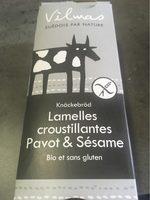 Lamelles de pain croustillant noir & blanc - Produit
