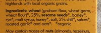 Sesame & spice crispbread sticks - Ingredients