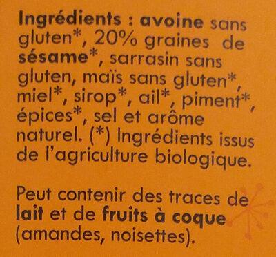 Lamelles croustillantes piment & sésame - Ingrédients - fr
