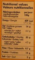 Lamelles croustillantes piment & sésame - Informations nutritionnelles - fr