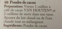 Poudre de cacao - Ingrediënten - fr