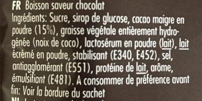 Chocolate Drink - Ingrédients - fr