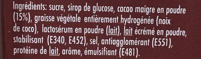 Chocolate Drink - Ingredienti - fr