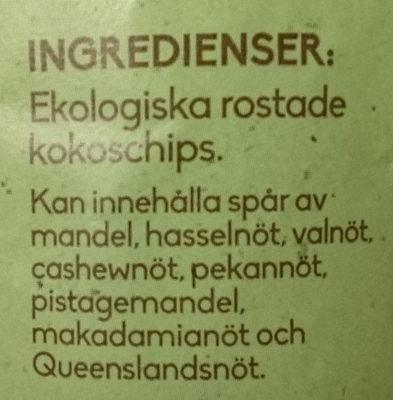 Ekologiska rostade kokoschips - Ingredients