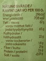 Ekologiska rostade kokoschips - Nutrition facts