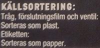 Lantmännen Gooh! Kycklingbröst i basilikasås - Instruction de recyclage et/ou informations d'emballage - sv