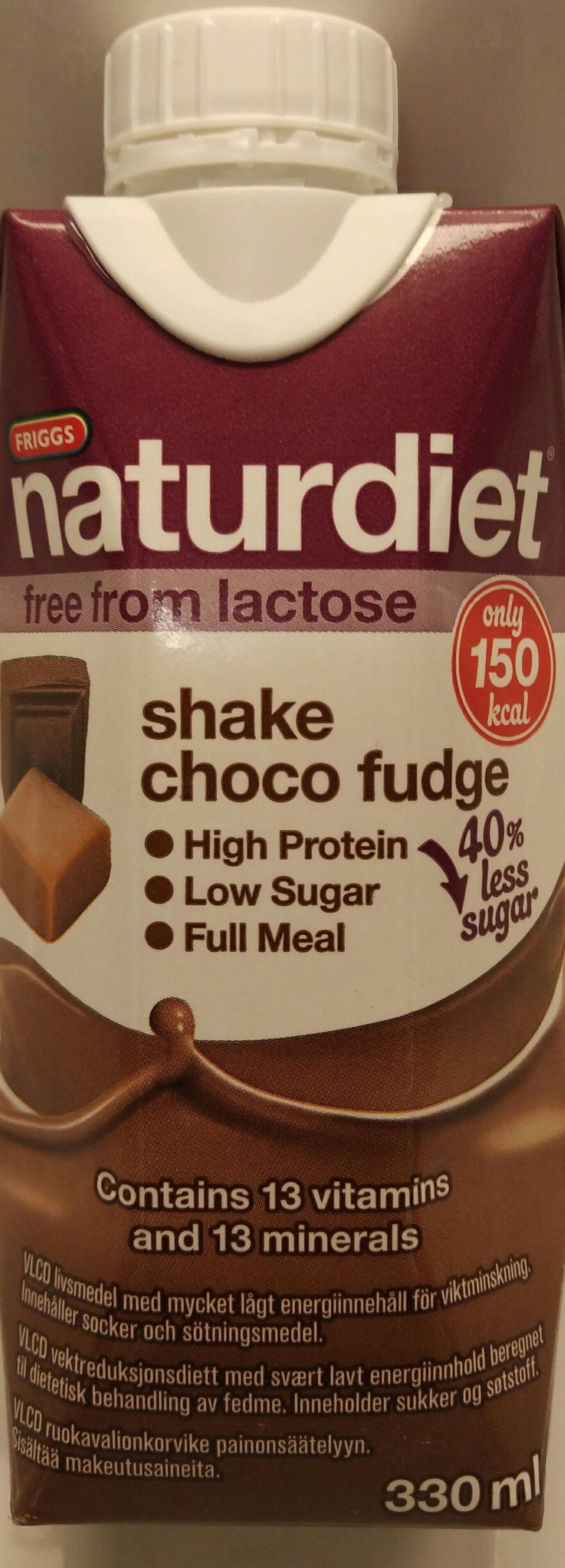 Friggs naturdiet / shake choco fudge - Produit - en