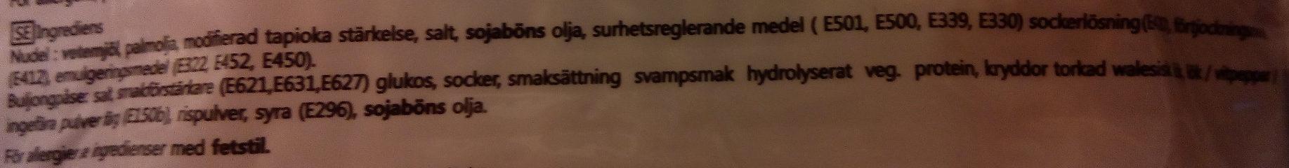 Samyang Ramen Champinjon smak - Ingrediënten - sv