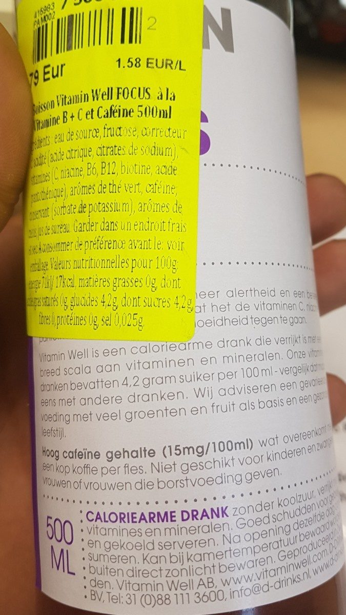 Vitamine well - Ingredients