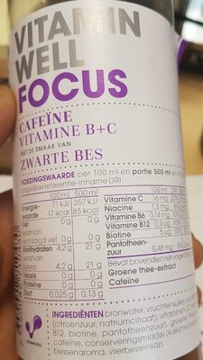 Vitamine well - Nutrition facts