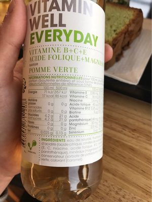 Vitamin Well Everyday - Nutrition facts