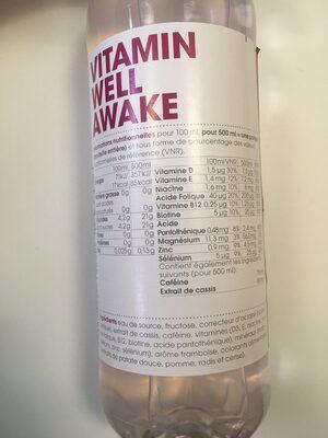 Vitamin well awake - Informations nutritionnelles - fr