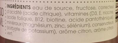 Reload - Ingredients