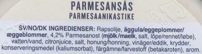 Eriks Parmesansås - Ingrédients - sv