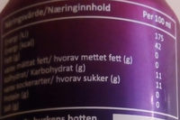 Vimto Fizzy - Informations nutritionnelles - sv