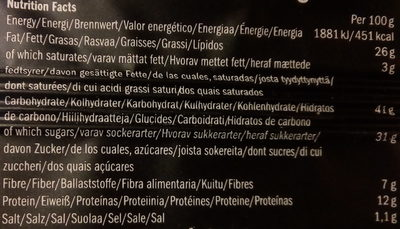 Getraw Licorice & Almond Bar - Nutrition facts - sv