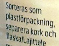 Milkshake Chocolate Flavour - Istruzioni per il riciclaggio e/o informazioni sull'imballaggio - sv