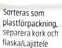 Njie ProPud Proteinmilkshake White Chocolate Raspberry Flavour - Recyclinginstructies en / of verpakkingsinformatie - sv
