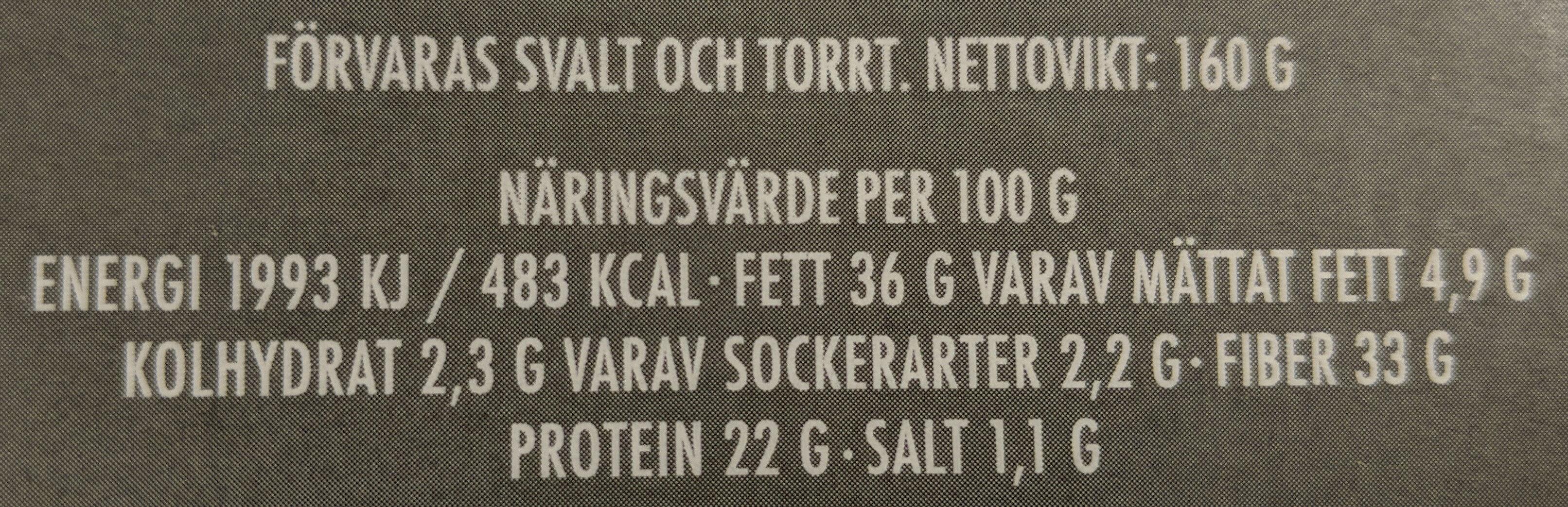 Ekologiskt Chia Knäckebröd - Nutrition facts - sv