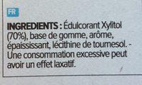 Chewing gum goût tropical - Inhaltsstoffe - fr