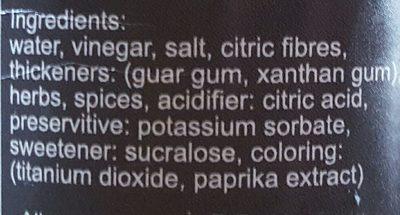 Ceasar Dressing - Ingrediënten - en