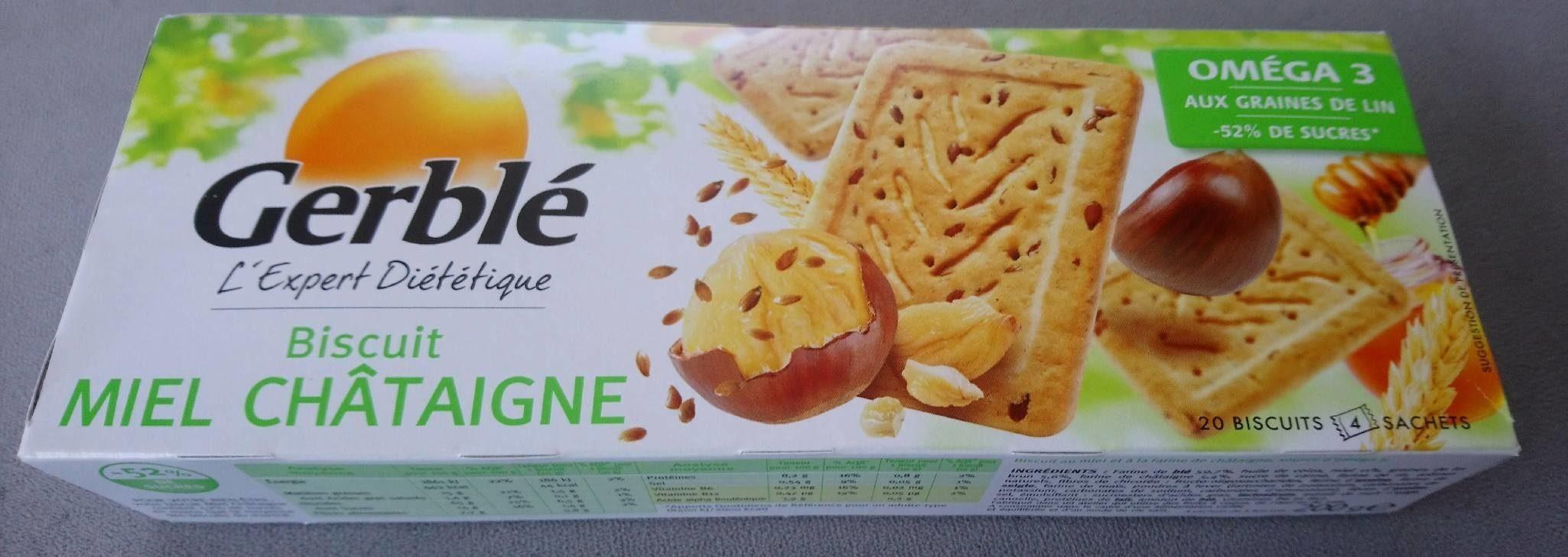 Biscuit miel châtaigne - Produit - fr