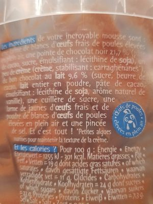 l'incroyable mousse - Ingrediënten - fr