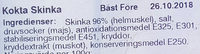 Jakobsdals Charkuteri Mor Matildas Kokta Skinka - Ingrédients - sv