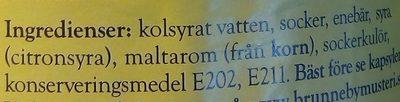 Brunneby Drickfärdig Enebärsdricka - Ingredients