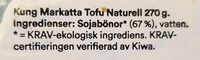 Tofu naturell - Ingrédients - sv