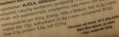 Alvestaglass Gammeldags vanilj - Nutrition facts