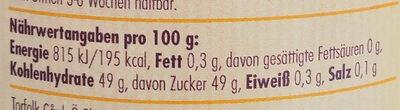 Blaubeer-Konfitüre - Nutrition facts - de