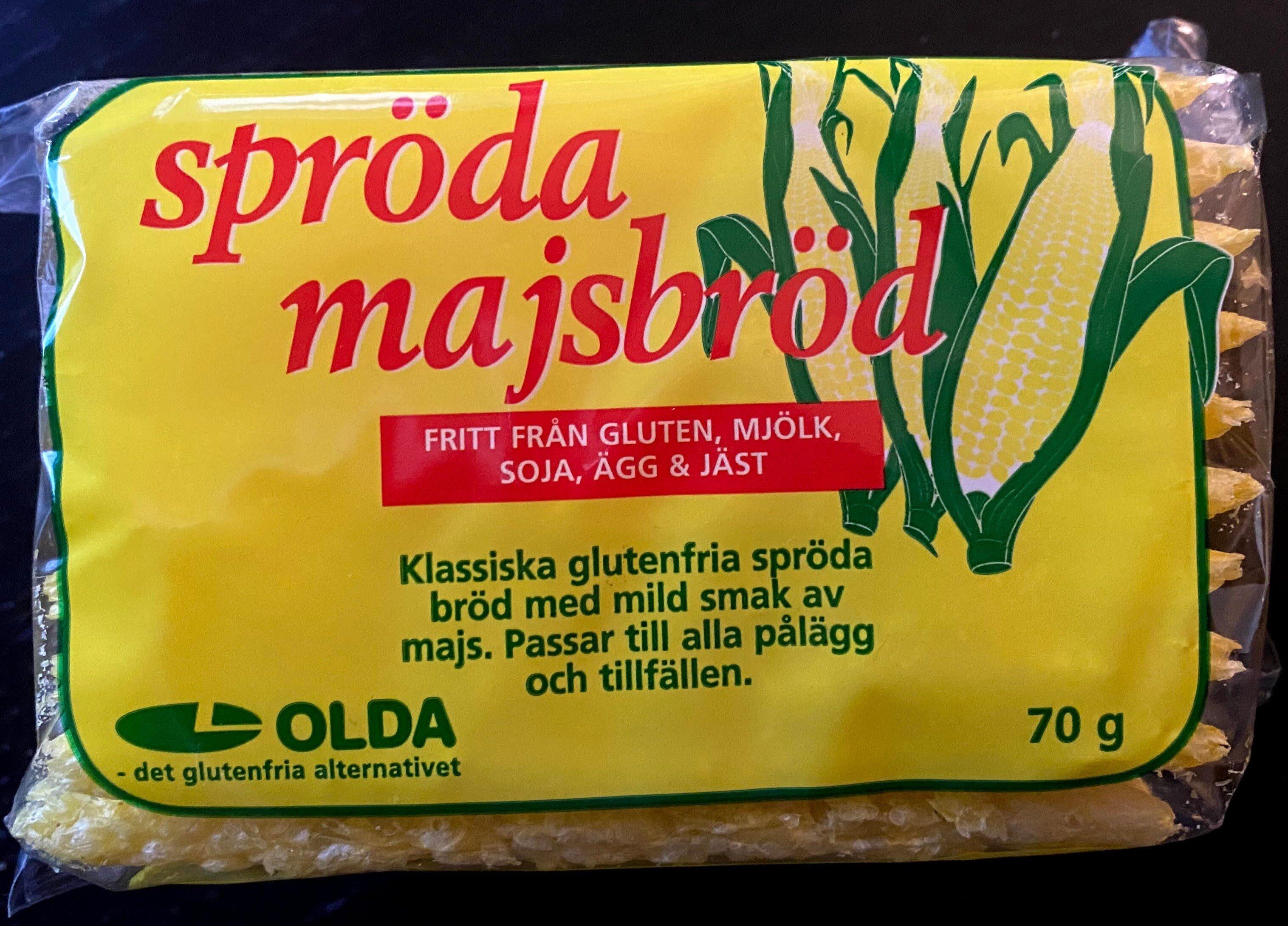 spröda majsbröd - Produit - en