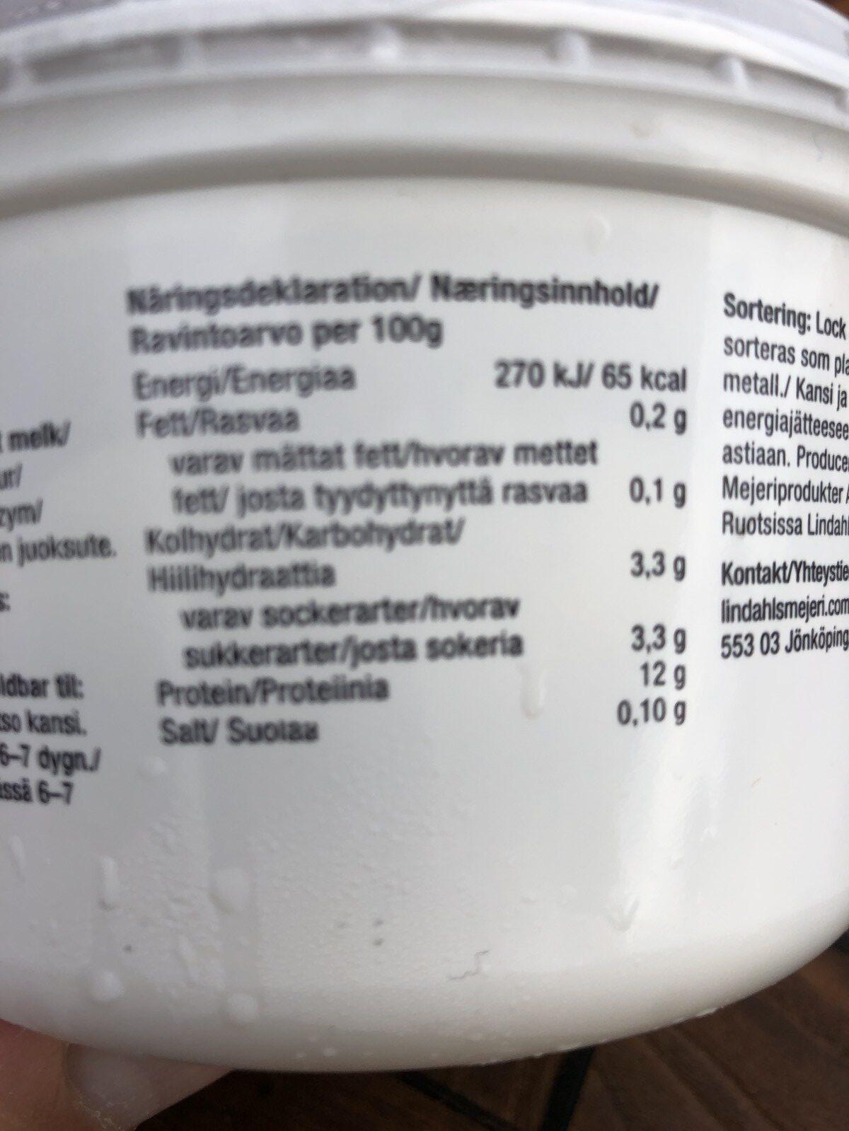 Kvarg Naturell 0,3% - Ingrédients