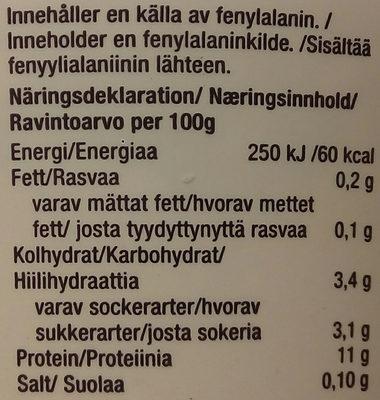 Lindahls Kvarg Hallonsmak - Nutrition facts