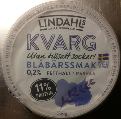 Lindahls Kvarg Blåbärssmak - Product