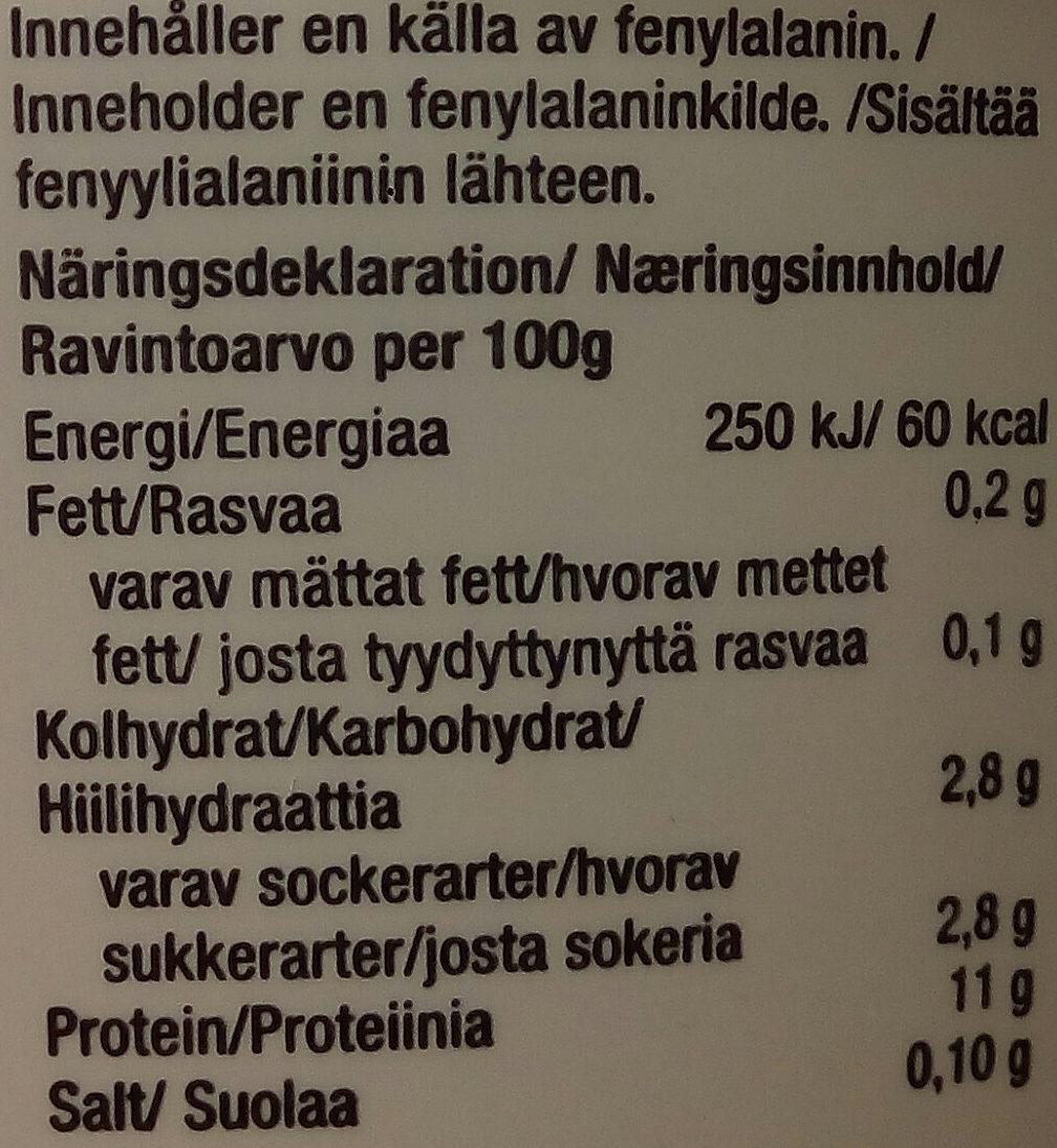 Lindahls Kvarg Blåbärssmak - Nutrition facts